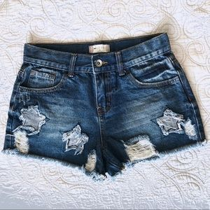 Altar'd State   Denim Shorts with Star Accents